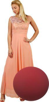 cd4e2d42033d Glara Dlouhé dámské šaty na ples UNI)