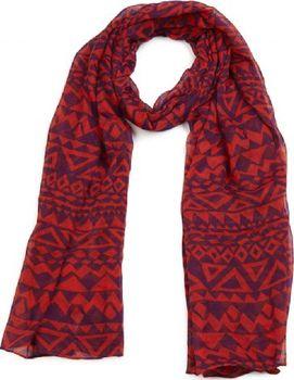 Kaytie Wu Dámská Šála RED MONO AZTEC Barva … 2d748aa34e