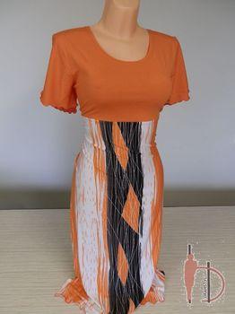Oranžové dámské šaty • Zboží.cz 4e0febc0e1