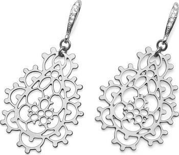 0b6790e28 Romantické náušnice s ornamentem připomínající rozvétající květiny, s  čirými krystaly Swarovski, z dílny značky Oliver Weber, povrch náušnic je  rhodiovaný, ...