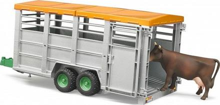 Bruder 2227 Velký přepravník na zvířata + figurka krávy