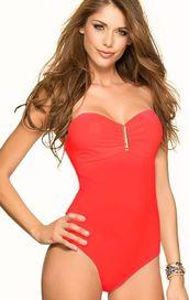 dámské plavky Phax Color Mix jednodílné červené 7e7fec02e4
