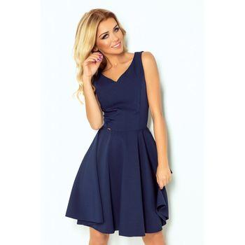Numoco 114-7 tmavě modré. Luxusní dámské společenské šaty bez rukávu ... 61d41bdf60