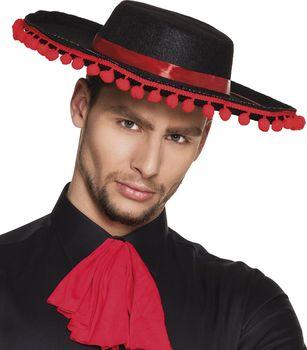 Černý pánský klobouk Flamenco s červenými… d353992d03