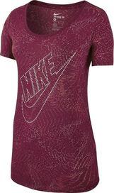 9f0ea27a7997 dámské tričko NIKE Tee-BF Burnout Glitch vínové