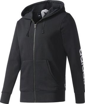 6e32162478f7 adidas Essentials Linear černá. Sportovní pánská černá mikina ...