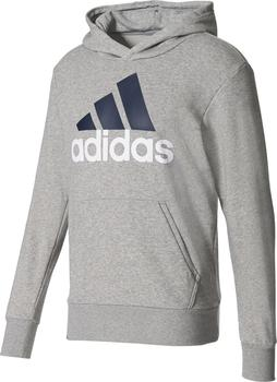 Adidas Essentials Linear Pullover Hoodie Medium Grey Heather od 959 ... ac9a8ecc264