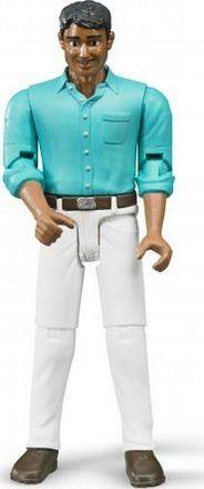 Bruder 60003 Bworld Figurka muž bílé kalhoty