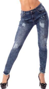 Dámské jeans s potiskem hvězd - c47c7395b6