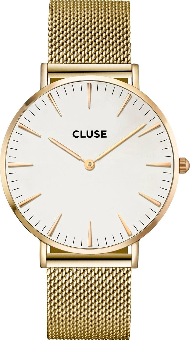 hodinky Cluse La Bohème Mesh gold white 3c614ed5f6