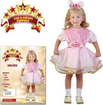 ccd1004a0420 Made šaty na karneval Králík růžový 92-104 cm od 195 Kč