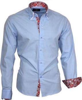 Binder De Luxe 81710 světle modrá. BINDER DE LUXE pánská moderní košile s dlouhým  rukávem ... 7cf7420386