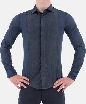 46e1cc4b595 Stylová pánská Košile Armani Jeans denim XS