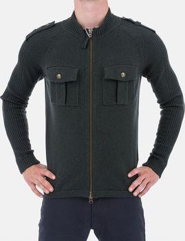 Armani Jeans Luxusní pánský zelený svetr… e27df92edc