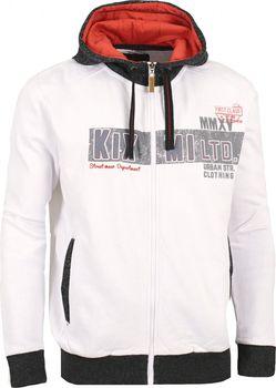Kixmi Birger AAMSW16251 bílá. Pánská volnočasová mikina ... d47b473679