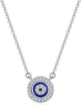 79c43c1e1 Modré náhrdelníky s kamenem ze zirkonu a se šperkem ze stříbra ...