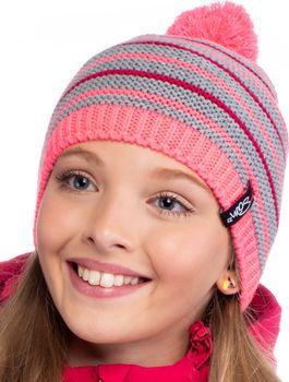 74b0970db3f SAM 73 CC 31 růžová uni. Dívčí zimní čepice ...