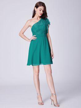 Ever Pretty Krátké dámské zelené šaty s… 6f76b1c5eb0