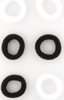Gumičky do vlasů MINI bílá černá 2 cm   6 ks ed6671cd9e