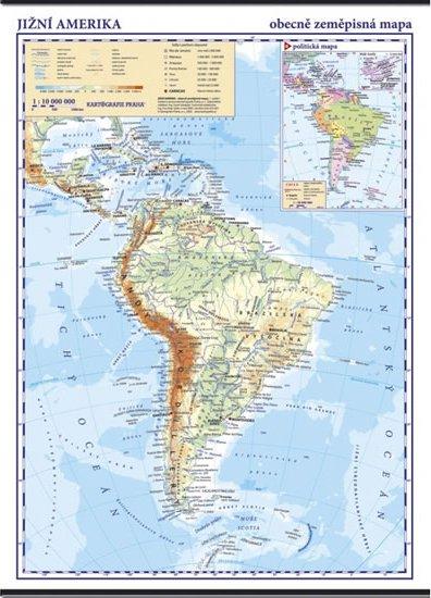 Jizni Amerika Skolni Nastenna Obecne Zemepisna Mapa 1 10 Mil 96 X