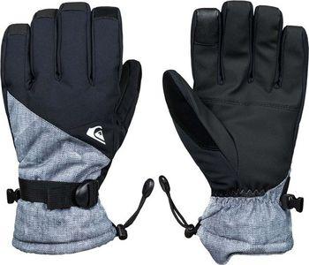 d52a5fa3074 Quiksilver Mission Glove Simple texture Grey. Pánské zimní rukavice ...