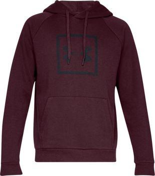 Under Armour Rival Fleece Logo Hoodie červená. Pánská mikina ve volném  střihu přes hlavu s kapucí ... c56687cee04