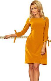 dámské šaty Numoco Alice 195-6 hořčicové XL ba660bf71f