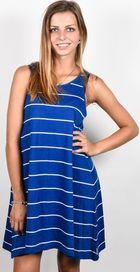 Modré dámské pruhované šaty • Zboží.cz fdec446667