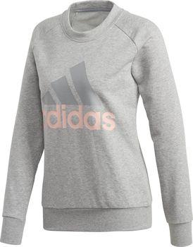 05b03e95ee6d Sportovní dámská šedá mikina Adidas Ess Lin Sweat bez kapuce je vhodná  především na volný čas