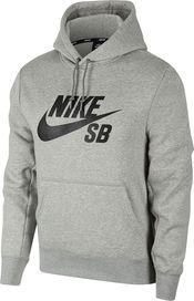 f6602e2b3a pánská mikina Nike SB Icon Essential Hoodie Dark Grey  Black
