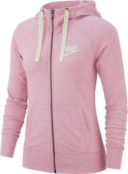 NIKE W NSW Gym Vintage Hoodie FZ Melange světle růžová od 1 200 Kč ... 36f8a6adc00