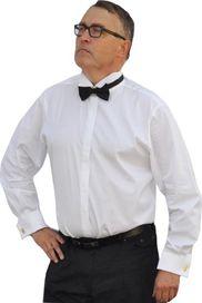 pánská košile Aramgad 20006 prodloužená slim fit bílá 95b01f90de