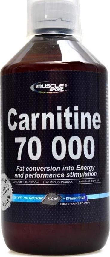 Výsledek obrázku pro Muscle Sport L-Carnitine 70000 500 ml
