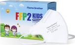 Flame Brothers Dětské respirátory FFP2 NR bílé 20 ks