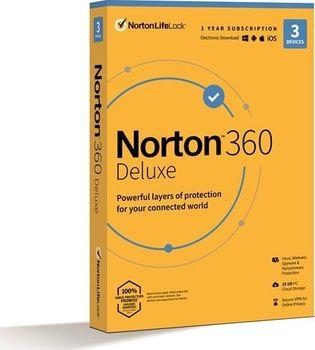 Norton 360 Deluxe 25 GB + VPN ESD 3 zařízení na 1 rok