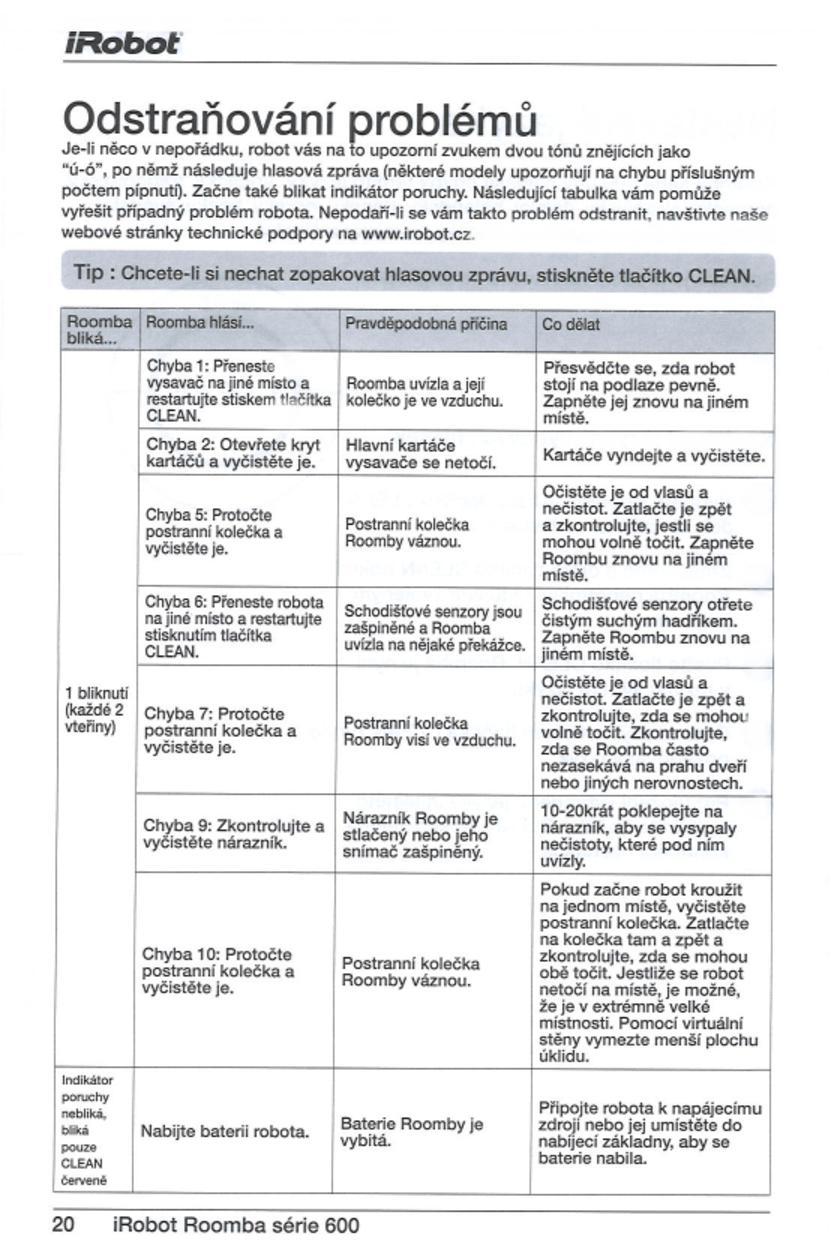 irobot roomba 620 manual pdf