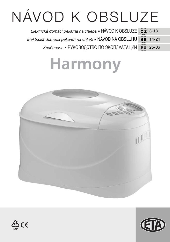 3111b70c9 Návod k obsluze ETA 2149 90000 Harmony | Zboží.cz