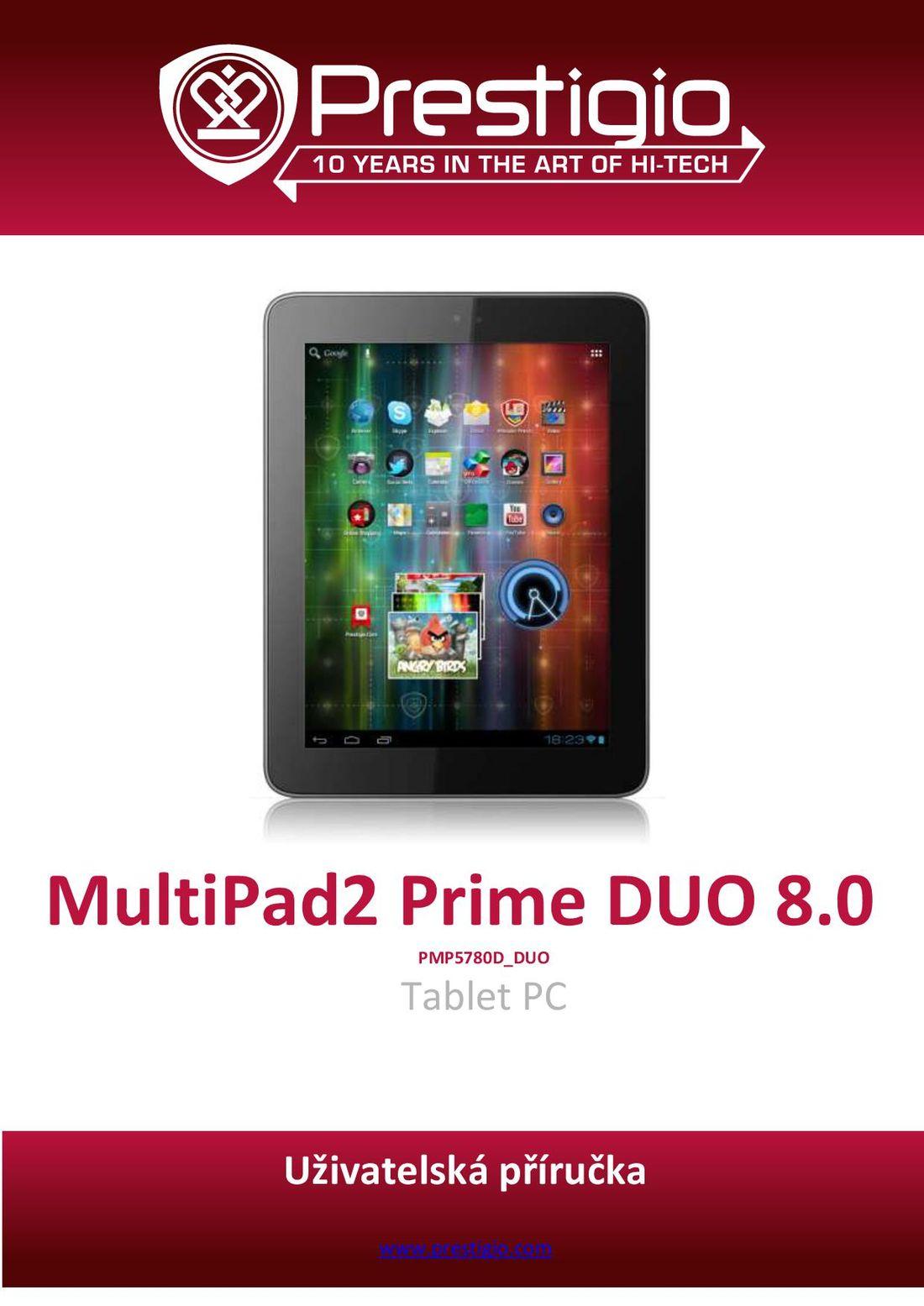 Uživatelská příručka Prestigio MultiPad 2 Prime Duo 8.0 černý ... 695b4616c2b