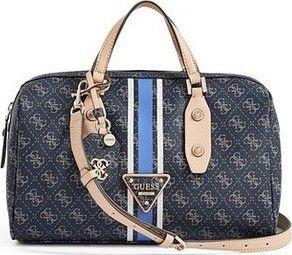 Guess Elegantní kabelka Logo Sport Box Satchel modrá • Zboží.cz f731de51068