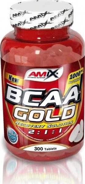 Výsledek obrázku pro Amix BCAA Gold 300 tablet