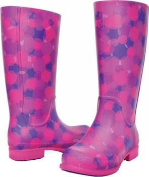 Crocs Fuchsiové holínky Wellie Polka Dot Print Boot Fuchsia Ultraviolet  15374-69A aa1bb7e696