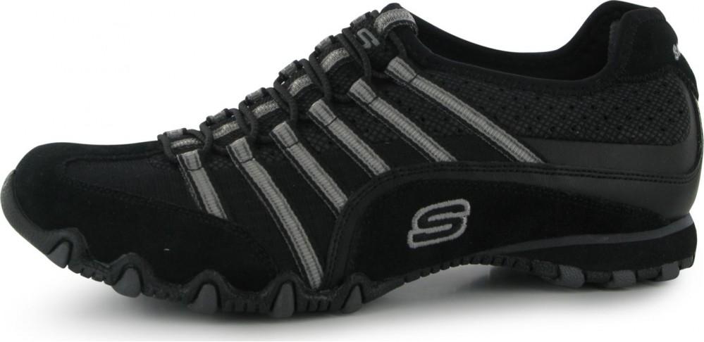 Skechers Bikers Serve Ladies Trainers Black Grey • Zboží.cz 5213d31ec2