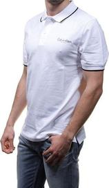 pánské tričko CALVIN KLEIN Pánské polo triko CALVIN KLEIN bílé fe3e55d641