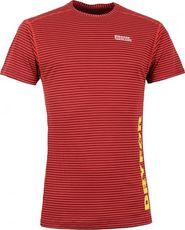 6885c9d1324 pánské tričko Pánské termo triko kr. rukáv NORDBLANC HYBRID NBWFM4637 TMAVĚ  ČERVENÁ Velikost XXL