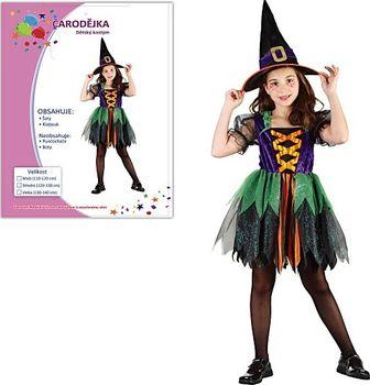 2737cb251126 Šaty na karneval - Čarodějka 110-120 cm od 265 Kč