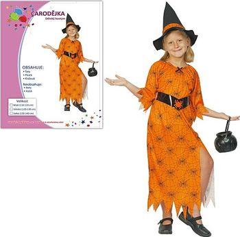 cc9bc01a4797 Šaty na karneval - Čarodějnice 110-120 cm. Dětský karnevalový kostým ...