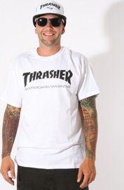 97b9f073697 pánské tričko Triko Thrasher Skate Mag bílé