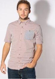 pánská košile Košile Vans Rusden Stripe living coral 731d70d7c6