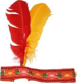 12073502c22 Karnevalová indiánská čelenka Rybana