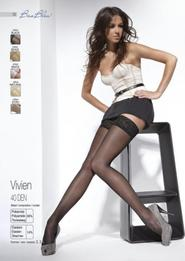 5279989616e punčochy Samodržící punčochy Vivien black černá L